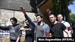 Приверженцы нацистских взглядов в Тбилиси