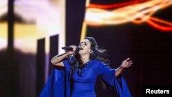 Джамала во время выступления на Евровидении-2016