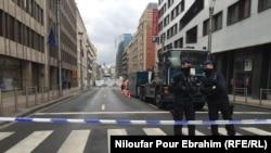 Днём в среду некоторые улицы Брюсселя оставались закрытыми