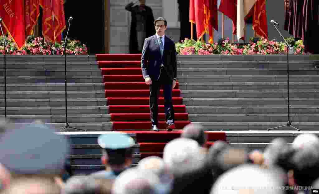 Прослава на Илинден во Вила Водно. Претседателот Стево Пендаровски