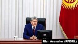 Алмазбек Атамбаев Жогорку Кеңеште. 28-апрель, 2016-жыл