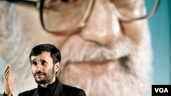 As Iranian President Mahmud Ahmadinejad can attest, it's Supreme Leader Ayatollah Ali Khamenei (background) who makes the big decisions.