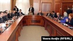 Prestavnici Vlade Srbije i Parlamentarne skupštine NATO-a prilikom susreta u Beogradu, 27. maj 2013.