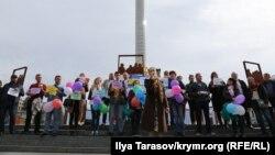 Акція на підтримку Володимира Дудки в Києві, 30 вересня 2019 року