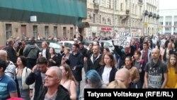 Акция протеста в Петербурге, 9 сентября 2018