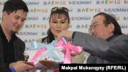 На презентации сборника «Колыбельные песни мира». Алматы, 17 января 2014 года.