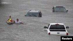 Из-за урагана «Харви» на город Хьюстон обрушилось разрушительное наводнение.