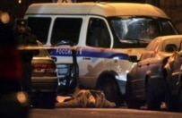 Moscow police secure a murder scene (epa file photo)