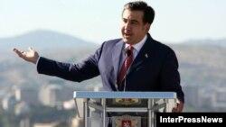 Михаил Саакашвили, Грузия президенті. Тбилиси, 6 қыркүйек 2012 жыл
