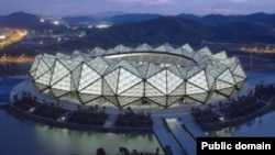 The government in Baku spent $134 million to build the 23,000-seat Crystal Hall for this year's Eurovision contest.