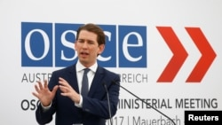 Austrian Foreign Minister Sebastian Kurz, current chairman of OSCE