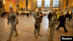 عناصر من الحرس الوطني الأميركي ينتشرون في المحطة المركزية بنيويورك