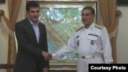 نيجيرفان بارزاني مع علی شمخانی رئيس مجلس الامن القومي الايراني