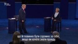Клінтон і Трамп обмінялися звинуваченнями під час других дебатів (відео)