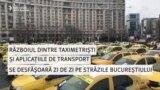 Taxi versus aplicații