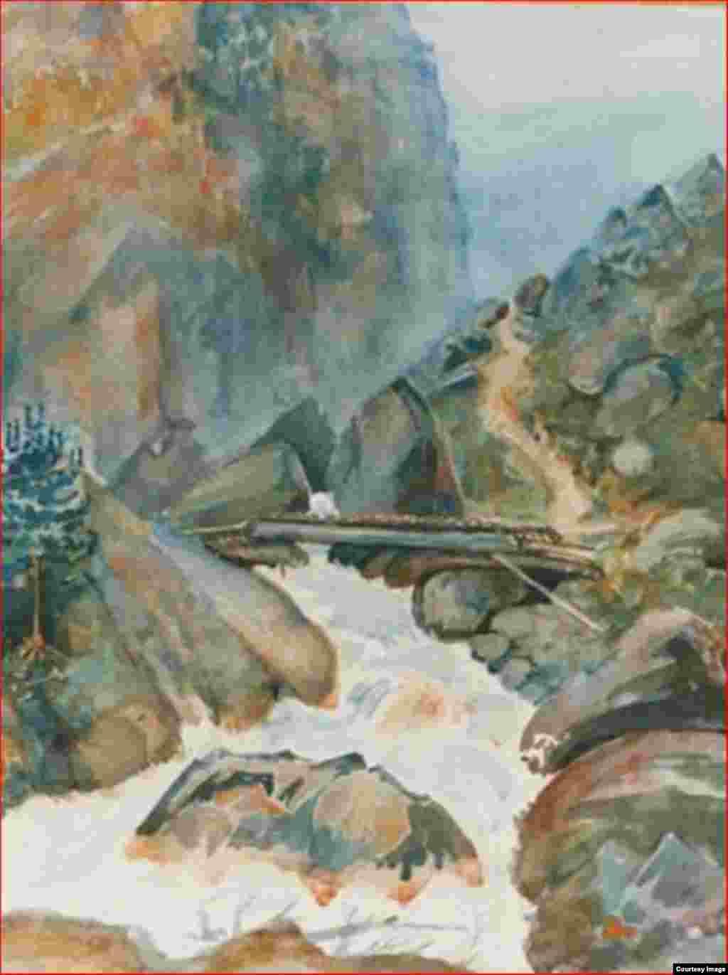Ущелье на реке Ассе, 1920-е гг.