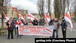 Беларусы ў Голдапе на Дзень Волі 25 сакавіка 2017 году