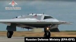 Российский военный беспилотник «Охотник». Иллюстративное фото.