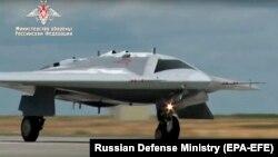 Ресейдің әскери дроны. Көрнекі сурет.