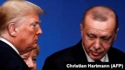 Дональд Трамп і Рэджэп Эрдаган, сьнежань 2019