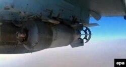 Бомбовая загрузка российского Су-25 в Сирии
