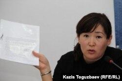 Гулжихан Жанабергенова, сестра погибшего полицейского Карлыги Жанабергеновой.