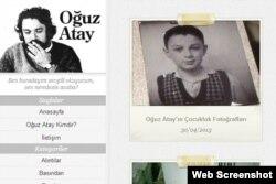 www.oguzatay.net-də yazıçının uşaqlıq şəkli