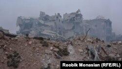 Зруйновані будинки у Алеппо. Фото від 29 листопада 2016 року