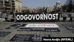 Protest 'Žena u crnom, Beograd, 23.mart2012.