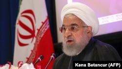 Iranski predsjednik Hasan Rohani na pres-konferenciji u Njujorku