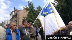 Protest ratnih vojnih veterana ispred Parlamenta Federacije BiH, 10. juli 2018.