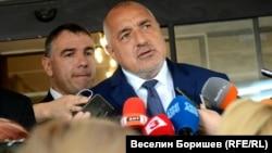 Бойко Борисов дава изявление пред медиите