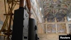 Peći u Sikstinskoj kapeli u kojoj će biti spaljivani glasovi