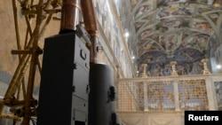 Печь для сжигания бюллетеней в Сикстинской капелле