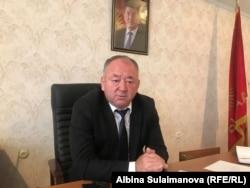 Мэр города Таласа Айдар Жусупбеков.