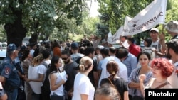 Armenia -- Environmental activists protest against the Amulsar gold mining project, Yerevan, August 19, 2019.