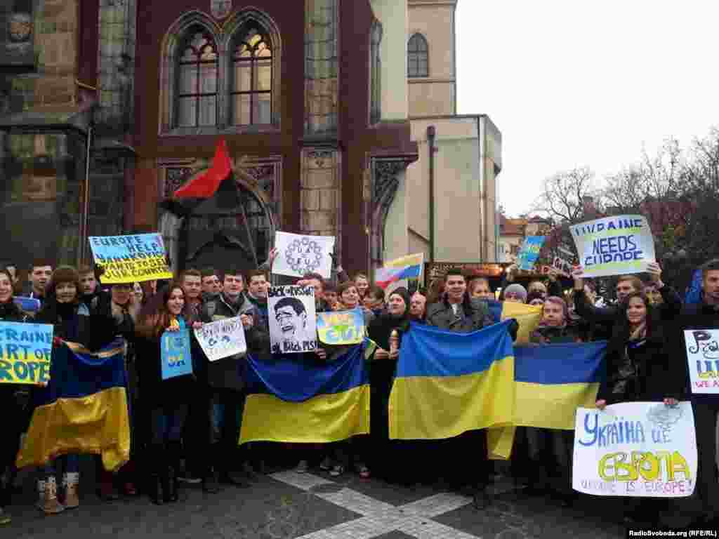 Євромайдан в Празі(Чехія)