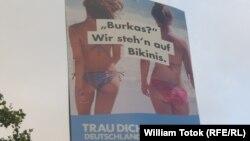 Afiș electoral anti-migrație și xenofob al AfD, Berlin