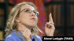 """Ksenia Sobchak has denied any kind of partnership with the Kremlin, writing on Facebook that she is """"an independent person"""" and """"proud of that."""""""