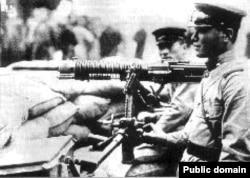 Японский пулеметный расчет. 1938 год