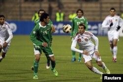 من مباراة العراق والأردن