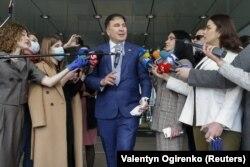 Mihail Saakașvili, după consultări în Parlamentul de la Kiev, 24 aprilie 2020