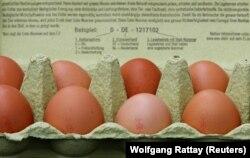 Яйца в магазине в Германии