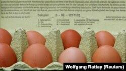 Куриные яйца в продаже в Германии. 4 августа 2017 года.