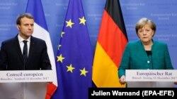 Francuski predsjednik Emmanuel Macron i njemačka kancelarka Angela Merkel, 15. decembar 2017.