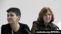 Аксана Забужка і Сьвятлана Алексіевіч