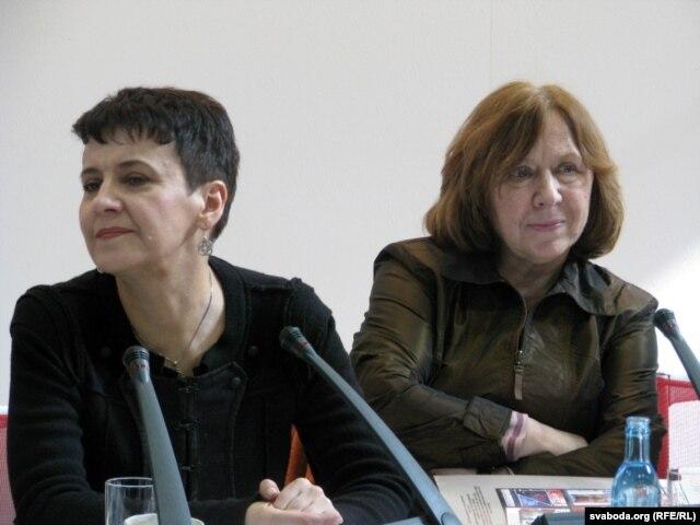 Кніжны кірмаш у Ляйпцыгу, Аксана Забужка і Сьвятлана Алексіевіч, 2012
