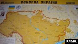 Мапа кордонів України на 22 січня 1919 року
