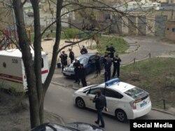 Место убийства Олеся Бузины. Киев, 16 апреля 2015 года