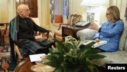Takimi Hillary Clinton - Hamid Karzai në Uashington